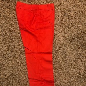 LOFT Marisa cropped red pant, NWOT!